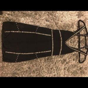 Black studded BEBE dress-Small